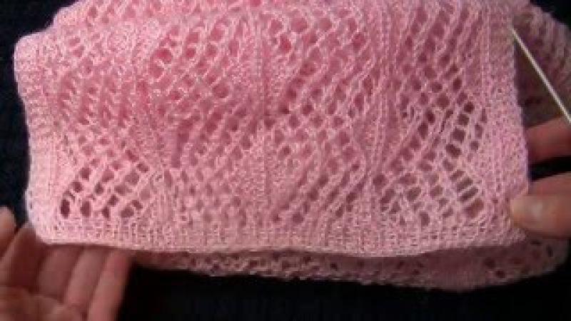 Как связать ажурный шарф спицами. ПРОСТОЙ ажурный узор спицами. Вязание спицами: ажурные шарфы