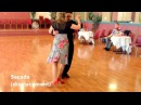 Argentine Tango Slow motion Cross System with Sacadas Gancho Leg Wrap Ochos 10 4 2015