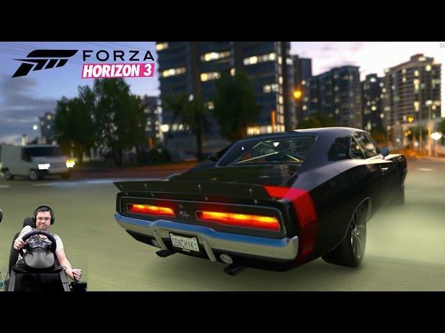 Dodge Charger R/T в фул тюнинге - Forza Horizon 3 на руле Fanatec Porsche 911 Carrera GT