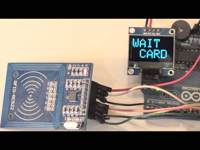 Arduino NFC EEPROM электронный ключ RC522 Card Read Module RFID OLED LCD Display