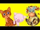 Животные для самых маленьких - голоса домашних и диких животных для детей. как говорят животные