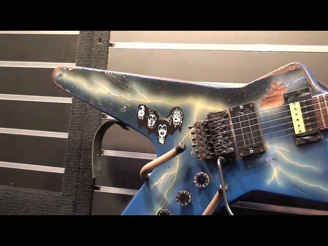 Pantera Dimebag Darrell's Original DEAN guitars. Dean Guitars booth NAMM Show 2009. HD Video