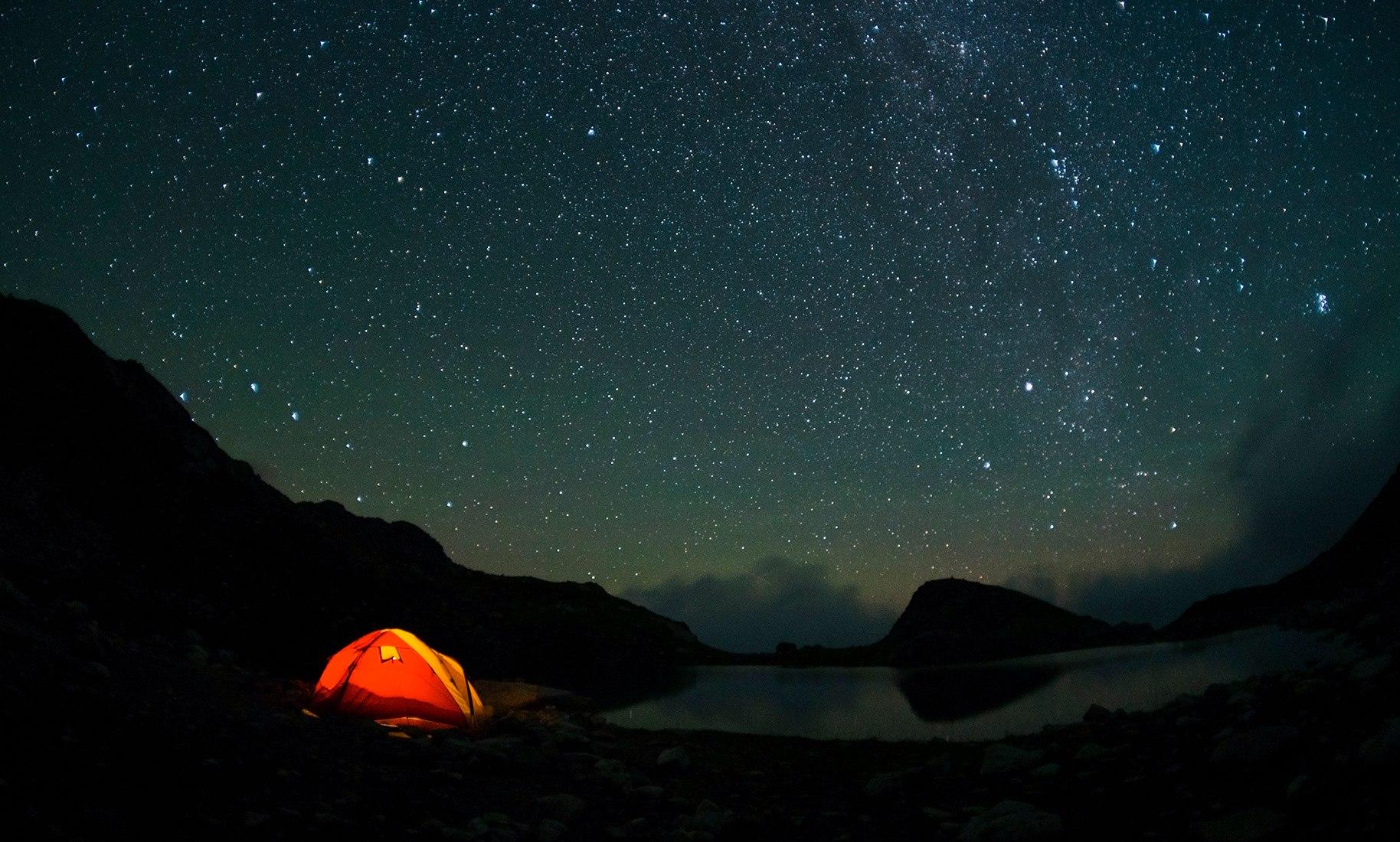 объекта обои на рабочий стол палатка звездное небо это значит