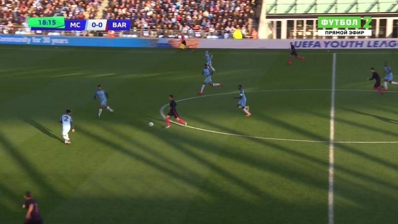 Юношеская Лига УЕФА Гpynna C 4 myp Maнчecmep Cumu Aнrлuя Бapceлoнa Иcnaнuя 1 тайм