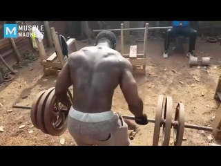 Real gym - african bodybuilders _ muscle madness