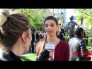 Angela Sarafyan interviewed at 23rd SAG Awards Press conference with The Actor statue at the Grove