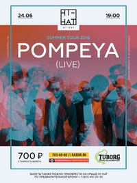 24 JUN: POMPEYA (Live) * Summer Tour 2016