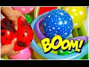 """""""The Balloon Popping Show"""" for LEARNING COLORS - Giant Balloon Explosion - Educational Video III"""