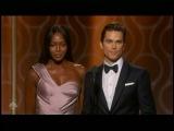 Matt Bomer &amp Naomi Campbell presenting at 2017 Golden Globes