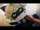 Speed Drawing Cat Noir /Chat Noir Miraculous Ladybug Diana Díaz