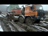 Off-road FAiLS 6x6 Trucks Tatra & Mercedes on Siberian roads