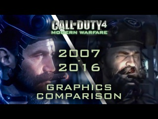 4K 60fps Call of Duty 4 MW vs Remastered FRAME 2 FRAME GRAPHIC COMPARISON