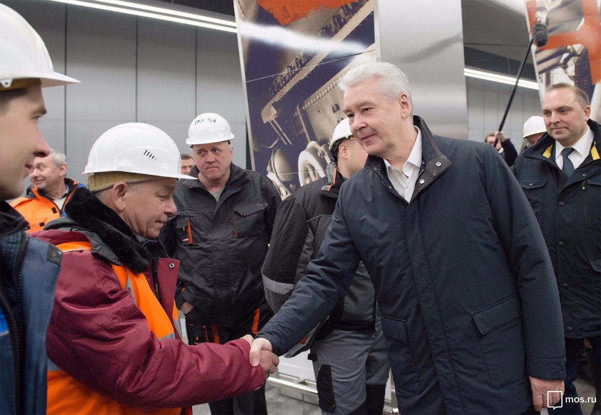 Собянин открыл три новые станции метро // mos.ru