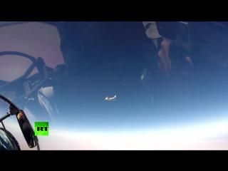 Авиаудар российских бомбардировщиков по позициям ИГИЛ у Ракки