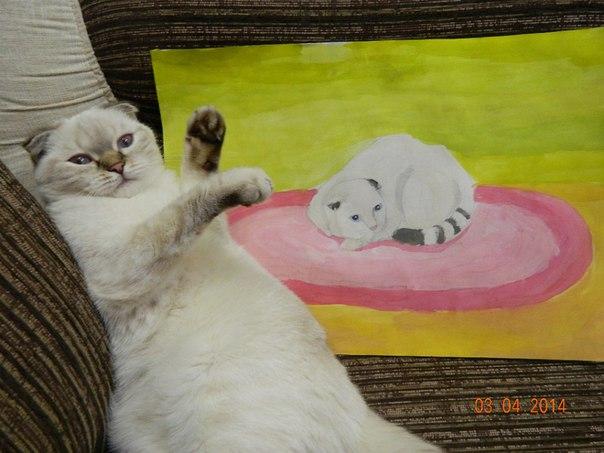 Кошечку Лапку нарисовала дочка