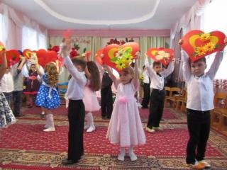 танец с сердечками утренник на 8 марта 2016г дет. садик
