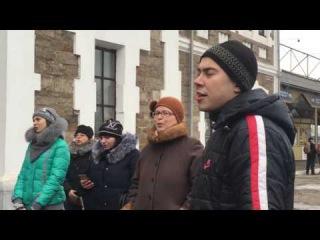 Кривой Рог Идёт солдат по городу 24 декабря 2016 Наш Песенный Флешмоб Song flashmob