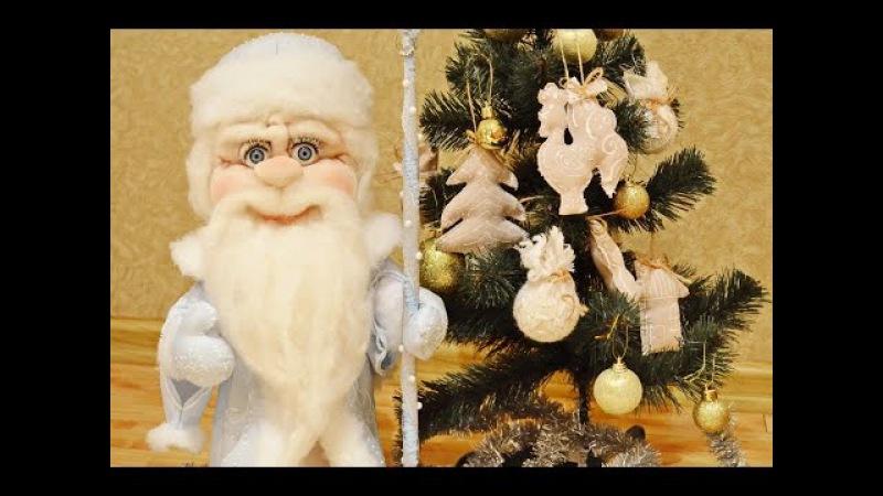 Дед Мороз своими руками в чулочной технике
