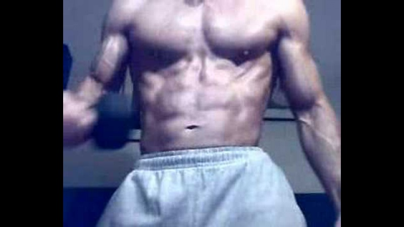 Gutpunch my abs muscle flexing