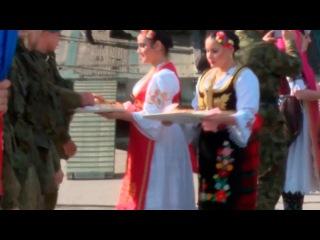 Сербия. Российский десант встретили хлебом и солью. «Славянское братство - 2016»