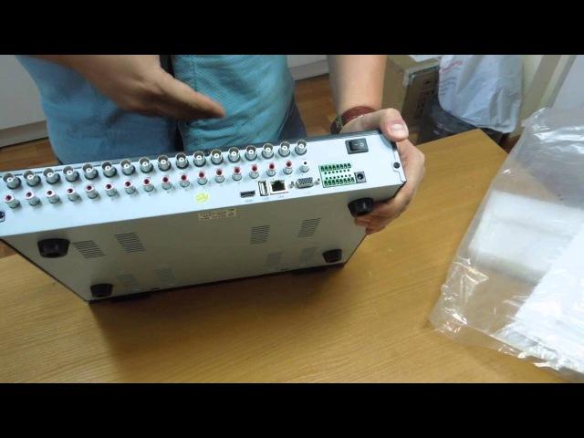 Распаковка гибридного видеорегистратора Айтек Про HVR-164H / Unboxind Dahua HVR