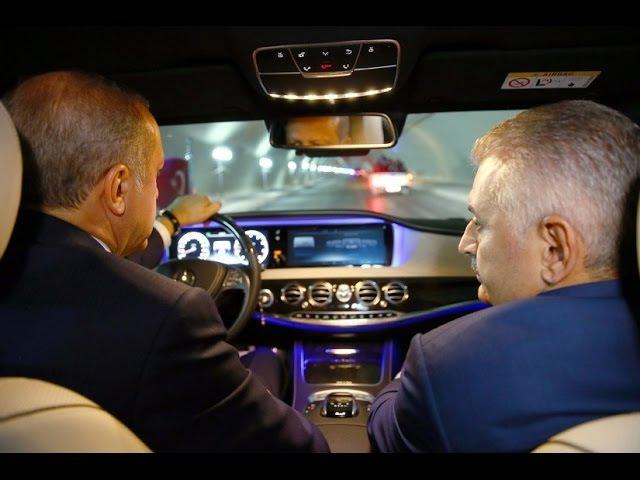 Cumhurbaşkanı Erdoğan, Avrasya Tüneli'nden İlk Araçlı Geçişi Gerçekleştirdi 8 Ekim 2016
