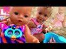 Беби Бон кукла купается в ванной Ферби бум злодей закопал пупсика Игрушки для детей BABY Born