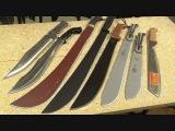 8 Different Machetes, ESEE, TOPS, Cold Steel, Nicholson