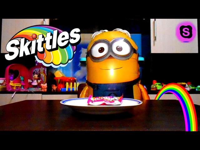 Крутой эксперимент с конфетами Скитлс Cool experiment with the candy Skittles