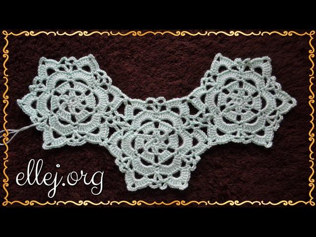 ♥ Безотрывное вязание мотивов крючком • Как перейти от мотива к мотиву • Crochetting...