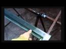 как изготавливаются распашные ворота из профнастила