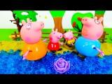 История игрушек из мультика Свинка Пеппа. Peppa Pig смотреть Серия 1: Папа Свин достает лилию