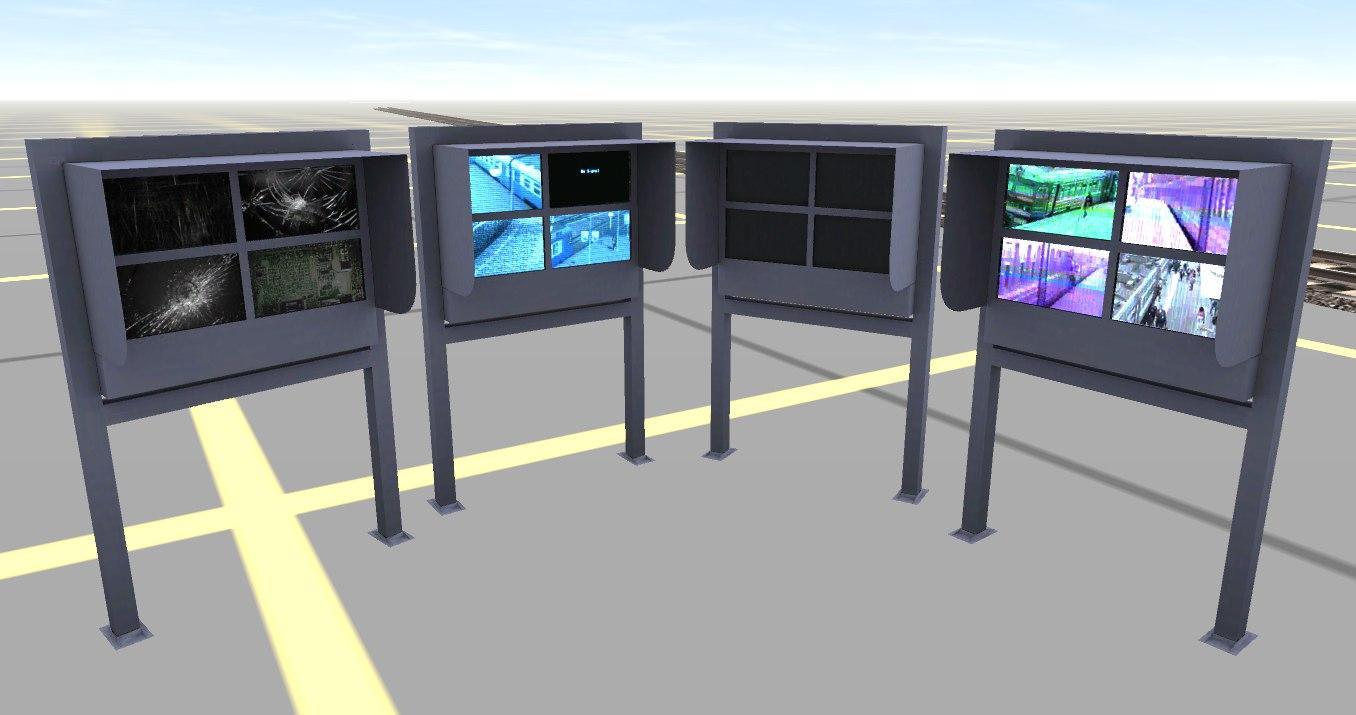 Экраны на платформе - набор из 5 штук