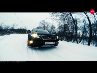 Lexus RX 450h GoPro videoset (черное на белом)
