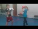 Оля VS Артем. Школа 335. Тайский бокс