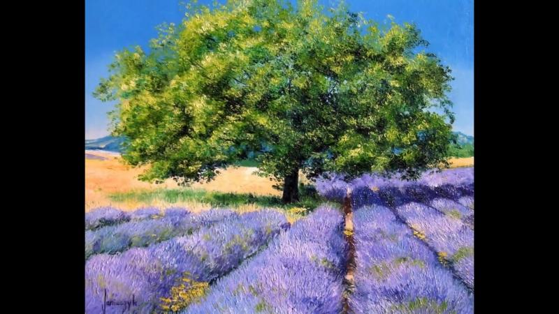 LAVENDER FIELDS paintings by Jean-Marc JANIACZYK, music Erik Satie Gymnopedie 1. www.janiaczyk.fr