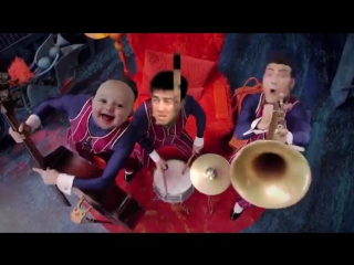 We are number one but the instruments are replaced with samples from various gay porn videos.