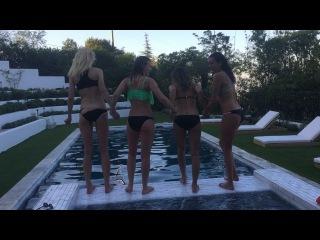 "Lane Cheek on Instagram: ""Jumping into this last week of filming like jumping into Jule's freezing cold pool! 😱 #Bittersweet"""