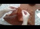 Кардиган из шестиугольников. Часть 2. Формирование полочек и спинки. Knitting women's cardigan.