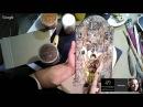 Наташа Фохтина Часы в технике Имитация Ручная работа
