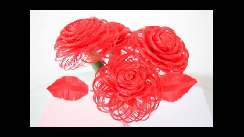 Como hacer una rosa de tela Rosa de tela Loveluzlop Loveluzlop