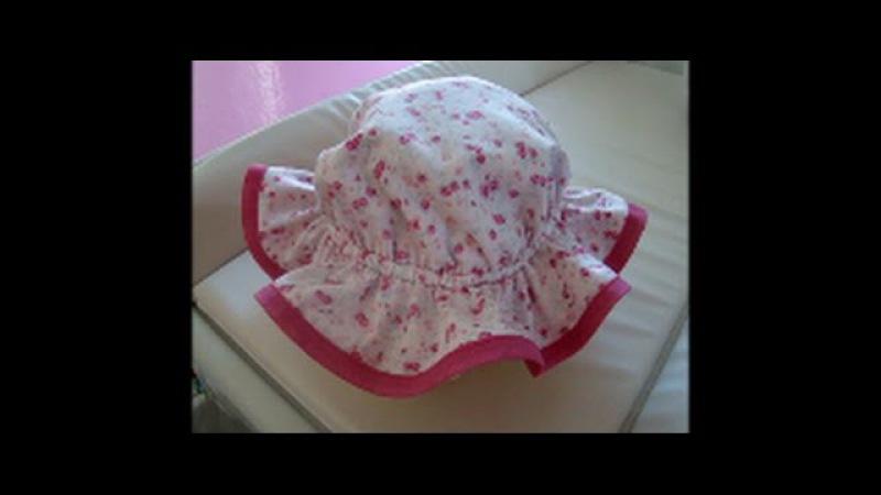 Diy como fazer chapeu infantil de 6 meses a 4 anos com molde