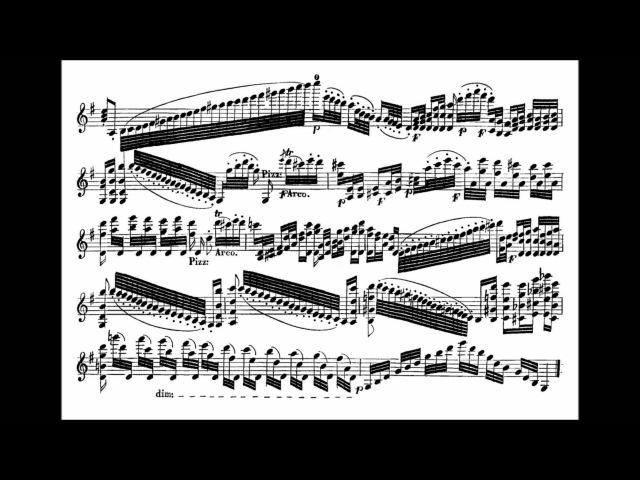 Paganini Niccolò Nel cor più non mi sento for violin