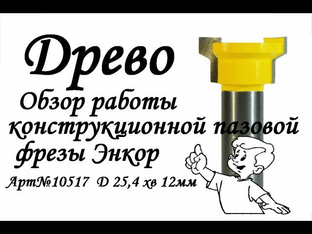 ДРЕВО.Обзор пазовой конструкционной фрезы Энкор арт № 10517