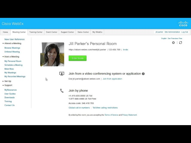 WebEx Meeting Center Personal Conference Overview (WBS29.12)
