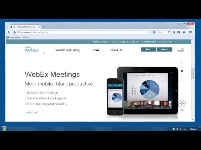 WebEx присоединиться к встрече с урожайностью Tools (WBS29.12)