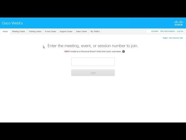 WebEx Meeting Center Начало собрания (WBS29.12)