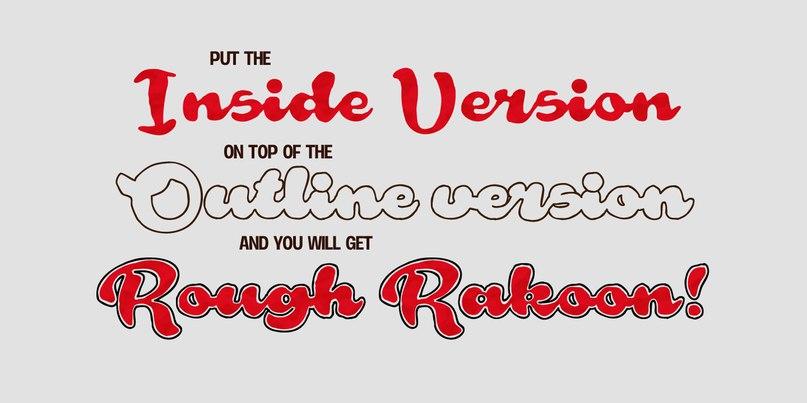 Download Rough Rakoon font (typeface)