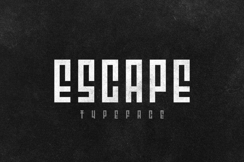 Download Escape font (typeface)
