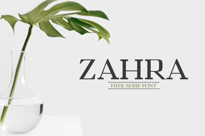 Download Zahra font (typeface)
